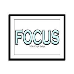 Focus Framed Panel Print