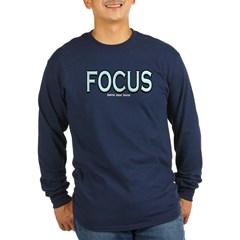 Focus Long Sleeve Dark T-Shirt