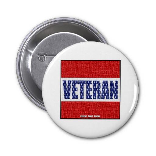 Veteran Banner Pinback Buttons