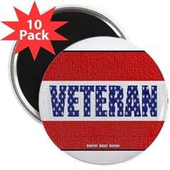 """Veteran Flag Banner 2.25"""" Magnet (10 pack)"""
