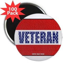 """Veteran Flag Banner 2.25"""" Magnet (100 pack)"""