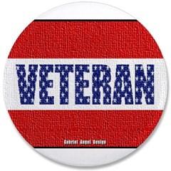 "Veteran Flag Banner 3.5"" Button"