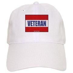 Veteran Flag Banner Baseball Cap