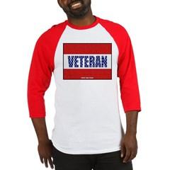Veteran Flag Banner Baseball Jersey T-Shirt