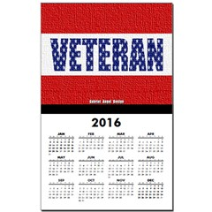 Veteran Flag Banner Calendar Print