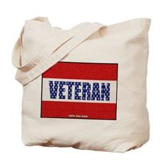 Veteran Flag Banner Canvas Tote Bag