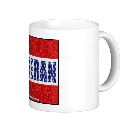 Veteran Flag Banner Classic White Mug