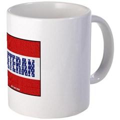 Veteran Flag Banner Coffee Mug