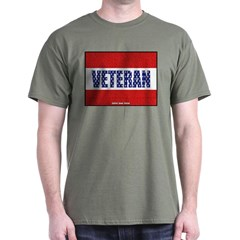 Veteran Flag Banner Dark T-shirt