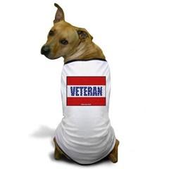 Veteran Flag Banner Dog T-Shirt