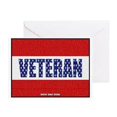 Veteran Flag Banner Greeting Card