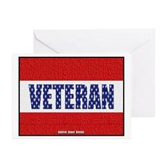 Veteran Flag Banner Greeting Cards (Pk of 10)