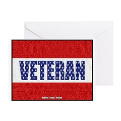 Veteran Flag Banner Greeting Cards (Pk of 20)