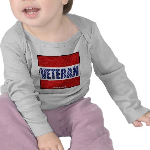 Veteran Flag Banner Infant Bella Long Sleeve T-Shirt