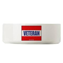Veteran Flag Banner Large Pet Bowl