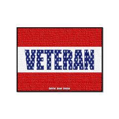 Veteran Flag Banner Large Posters