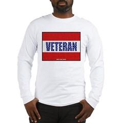 Veteran Flag Banner Long Sleeve T-Shirt