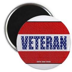 Veteran Flag Banner Magnet