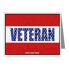 Veteran Flag Banner Note Cards (Pk of 10)