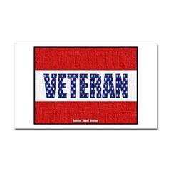 Veteran Flag Banner Rectangle Decal