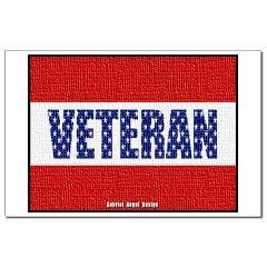 Veteran Flag Banner Small Posters