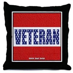 Veteran Flag Banner Throw Pillow