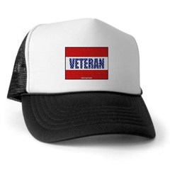 Veteran Flag Banner Trucker Hat