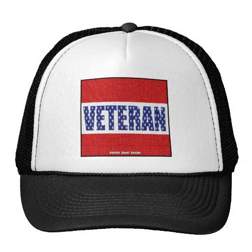 Veteran Flag Banner Trucker Hat