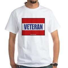 Veteran Flag Banner White T-Shirt