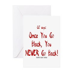 Once You Go Black Greeting Cards (Pk of 20)