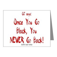 Once You Go Black Note Cards (Pk of 10)