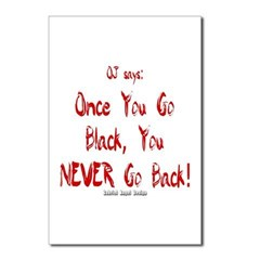 Once You Go Black Postcards (Package of 8)