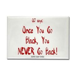 Once You Go Black Rectangle Magnet