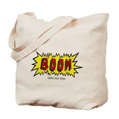 Boom Cartoon Blurb Canvas Tote Bag