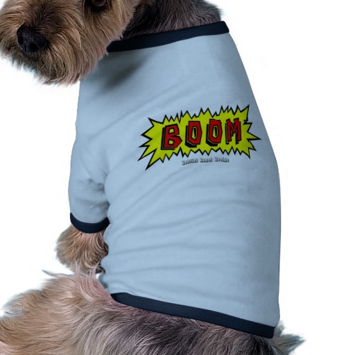 Boom Cartoon Blurb Doggie Ringer T-Shirt