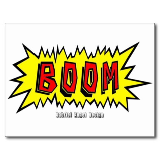 Boom Cartoon Blurb Postcard