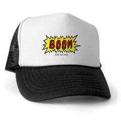 Boom Cartoon Blurb Trucker Hat