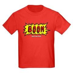 Boom Cartoon Blurb Youth Dark T-Shirt by Hanes