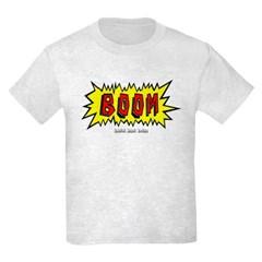 Boom Cartoon Blurb Youth T-Shirt by Hanes