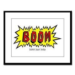 Boom Large Framed Print