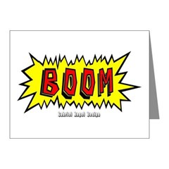 Boom Note Cards (Pk of 10)