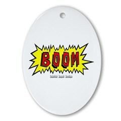 Boom Oval Ornament