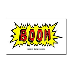 Boom Rectangle Decal