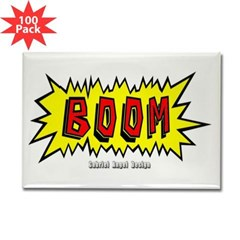 Boom Rectangle Magnet (100 pack)