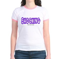 Shocking Logo Junior Ringer T-Shirt