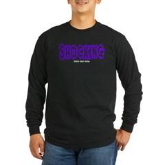 Shocking Logo Long Sleeve Dark T-Shirt