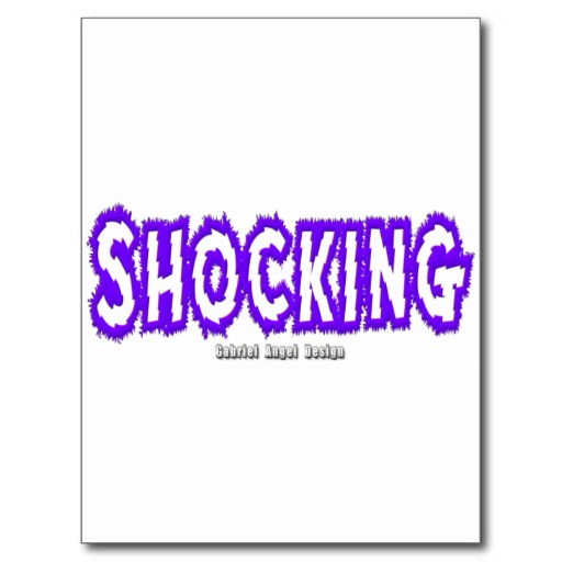 Shocking Logo Postcard