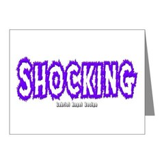 Shocking Note Cards (Pk of 20)