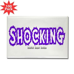 Shocking Rectangle Magnet (100 pack)