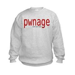 pwnage Kids Crewneck Sweatshirt by Hanes